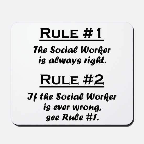 Social Worker Mousepad