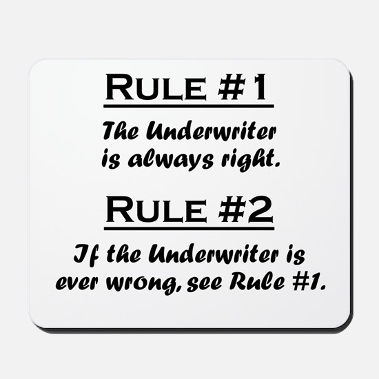 Underwriter Mousepad