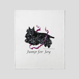 Jump for Joy Scottie Throw Blanket