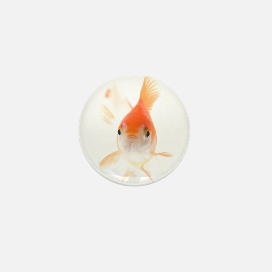 Unique Gold fish Mini Button