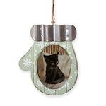 Little Black Kitten Mitten Ornament