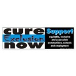 Cure Exclusion Bumper Sticker
