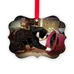 Kitten and Red Hat Picture Ornament
