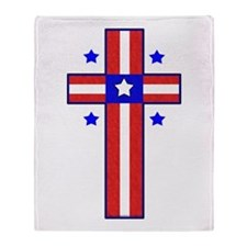 Christian Cross Throw Blanket