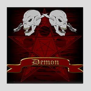 Pentagram and Skill Design Tile Coaster