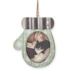Get Well Soon Cat Mitten Ornament