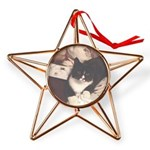 Get Well Soon Cat Copper Star Ornament