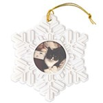 Get Well Soon Cat Snowflake Ornament