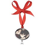 Get Well Soon Cat Oval Year Ornament