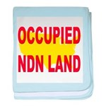 Occupied NDN Land baby blanket