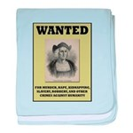 Columbus Wanted Poster baby blanket