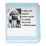 Truth Quote baby blanket