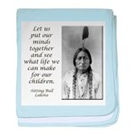 Sitting Bull Quote baby blanket