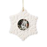 Christmas Tree Kitten Snowflake Ornament