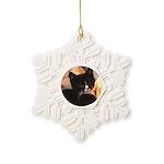 Mischief Kitten Snowflake Ornament