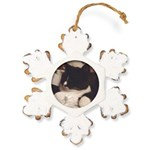 Get Well Rustic Snowflake Ornament