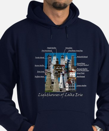 Lighthouses Of Lake Erie Hoodie (dark)