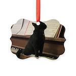 Piano Kitty Picture Ornament