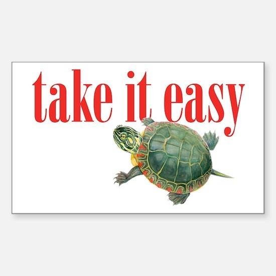 take it easy Sticker (Rectangle)