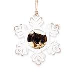 Catnap Rustic Snowflake Ornament