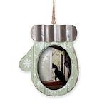 Kitty in Window pt. 5 Mitten Ornament