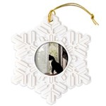 Kitty in Window pt. 5 Snowflake Ornament