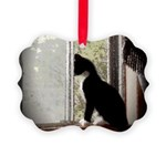 Kitty in Window pt. 5 Picture Ornament