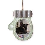 Sleepy Kitty Mitten Ornament