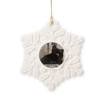 Sleepy Kitty Snowflake Ornament