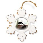 Avzer and Angel Rustic Snowflake Ornament