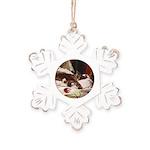 Lazing Rustic Snowflake Ornament
