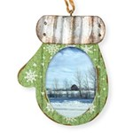 Winter on the Prairies Mitten Ornament