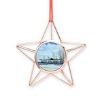 Winter on the Prairies Copper Star Ornament