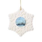 Winter on the Prairies Snowflake Ornament