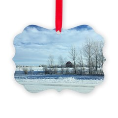 Winter on the Prairies Picture Ornament