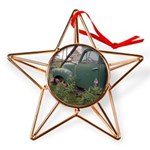 Farm Truck with flowers Copper Star Ornament