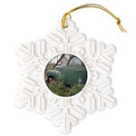 Farm Truck with flowers Snowflake Ornament