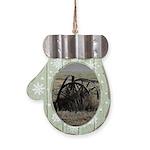 Wagon Wheel Morning Mitten Ornament