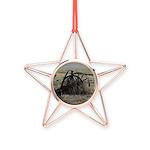 Wagon Wheel Morning Copper Star Ornament