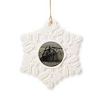 Wagon Wheel Morning Snowflake Ornament