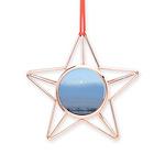 Prairie Winter Scene Copper Star Ornament