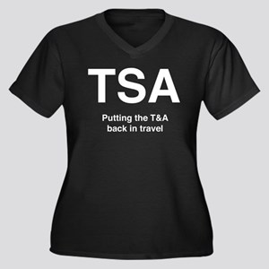 TSA Women's Plus Size V-Neck Dark T-Shirt