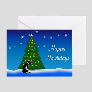 Black Dog Happy Howlidays Greeting Card