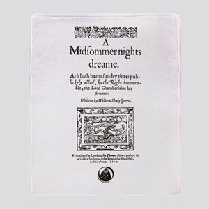 Midsummer Nights Dream Throw Blanket