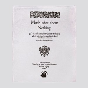 Much Ado About Nothing Throw Blanket