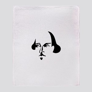 Simple Shakespeare Throw Blanket