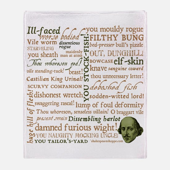 Shakespeare Insults Throw Blanket