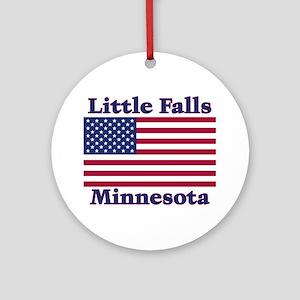 Little Falls US Flag Ornament (Round)