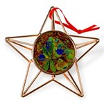 Magical Dragonfly Design Copper Star Ornament