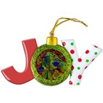 Magical Dragonfly Design Joy Ornament